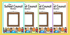 School Council Member Notice Board Posters