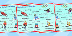 Winter Olympics 2014 Word Mat