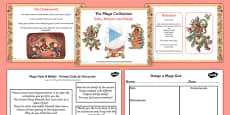 Mayan Civilization Gods and Beliefs Lesson Teaching Pack PowerPoint