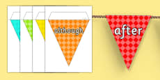 Conjunctions on Bunting Multicolour