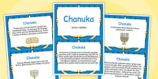 Hanukkah Display Fact Cards Polish
