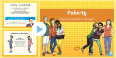 Puberty How Our Bodies Change Diagrams PowerPoint