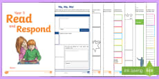 * NEW * Year 5 Read and Respond Activity Pack