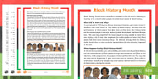 KS2 Black History Month Differentiated Reading Comprehension Activity