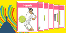 The Olympics Tennis Display Posters
