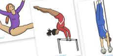 The Olympics Editable Images Gymnastics