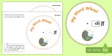 Phonics Digraph Word Wheel (ff)