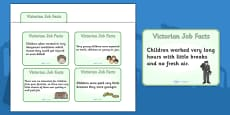 The Victorians Types of Jobs for Children Flash Cards