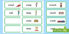 'cr' and 'c' Near Minimal Pair Word Cards