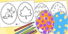 Easter Egg Colouring Templates - Australia