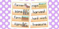 Australia - The Farmer and His Sons Word Cards