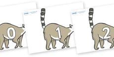 Numbers 0-31 on Lemurs