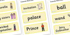 Cinderella Word Cards