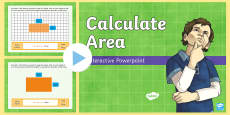 Calculate Area Interactive  PowerPoint