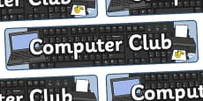 Computer Club Display Banner