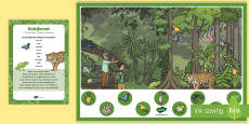 Rainforest Can You Find...? Poster and Prompt Card Pack