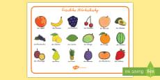 Früchte Wortschatz