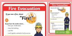 Childminder Fire Evacuation Procedure A4 Display Poster