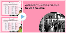 Travel & Tourism Vocabulary Listening Practice PowerPoint
