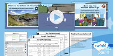 PlanIt - Geography Year 4 - Water Lesson 5: Flooding Lesson Pack