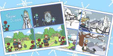 The Snow Queen Story Sequencing Cards