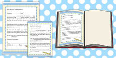 Editable Class Toy Introduction Letter