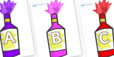 A-Z Alphabet on Party Poppers