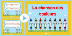 La chanson des couleurs Nursery Rhyme PowerPoint French