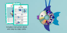 CD Fish Craft Instructions (Under the Sea)