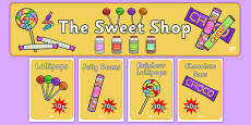 Sweet Shop Role Play Pack