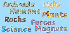 Year 3 Science Themed Display Lettering Resource Pack
