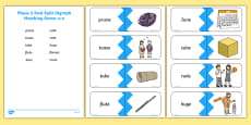 Phase 5 Real u-e Split Digraph Words Matching Cards