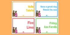 Samoan Language Posters