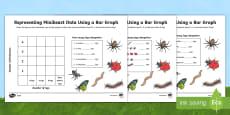 * NEW * Minibeast Bar Graph Activity Sheet