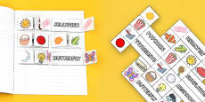 Compound Words Interactive Visual Aid Template