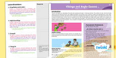 PlanIt - History LKS2 - Vikings and Anglo-Saxons Planning Overview