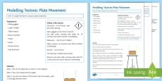 Modelling Tectonic Plate Movement Investigation Instruction Sheet Print-Out