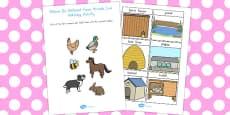 Australia - Where Do Different Farm Animals Live Matching Activity