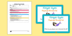 EYFS Playdough Mermaid Tail Finger Gym Plan and Prompt Card Pack