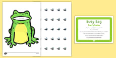 Frog Fly Posting Busy Bag Prompt Card And Resource Pack