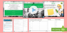 GCSE Poetry Form and Structure Lesson Pack to Support Teaching on 'Bayonet Charge' by Ted Hughes Lesson Pack