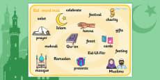 Eid Topic Word Mat