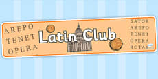 Latin Club Display Banner