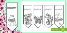 Spring Mindfulness Colouring Bookmarks English/Italian