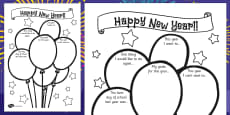 Happy New Year Activity Sheet