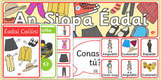 Clothes Display Pack Gaeilge