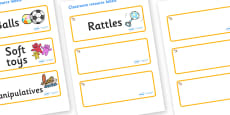 Welcome to our class - shell Themed Editable Additional Resource Labels