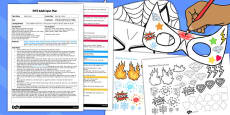 Superhero Masks EYFS Adult Input Plan and Resource Pack