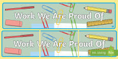 Work We Are Proud Of Display Banner