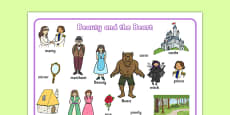 Beauty and the Beast Word Mat